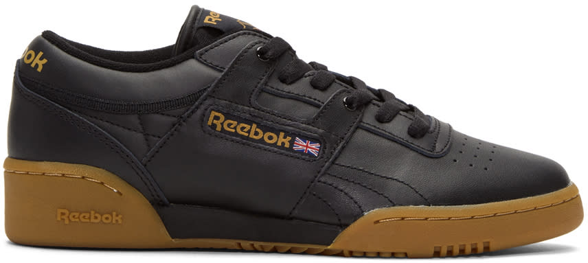 Reebok Classics Black Workout Low Sneakers