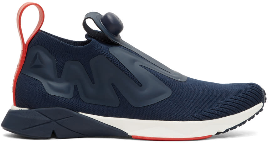 Reebok Classics Navy Pump Supreme Ultk Slip-on Sneakers