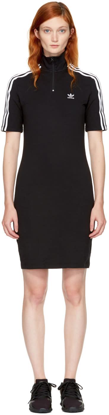 Image of Adidas Originals Black 3-stripes High Neck Dress