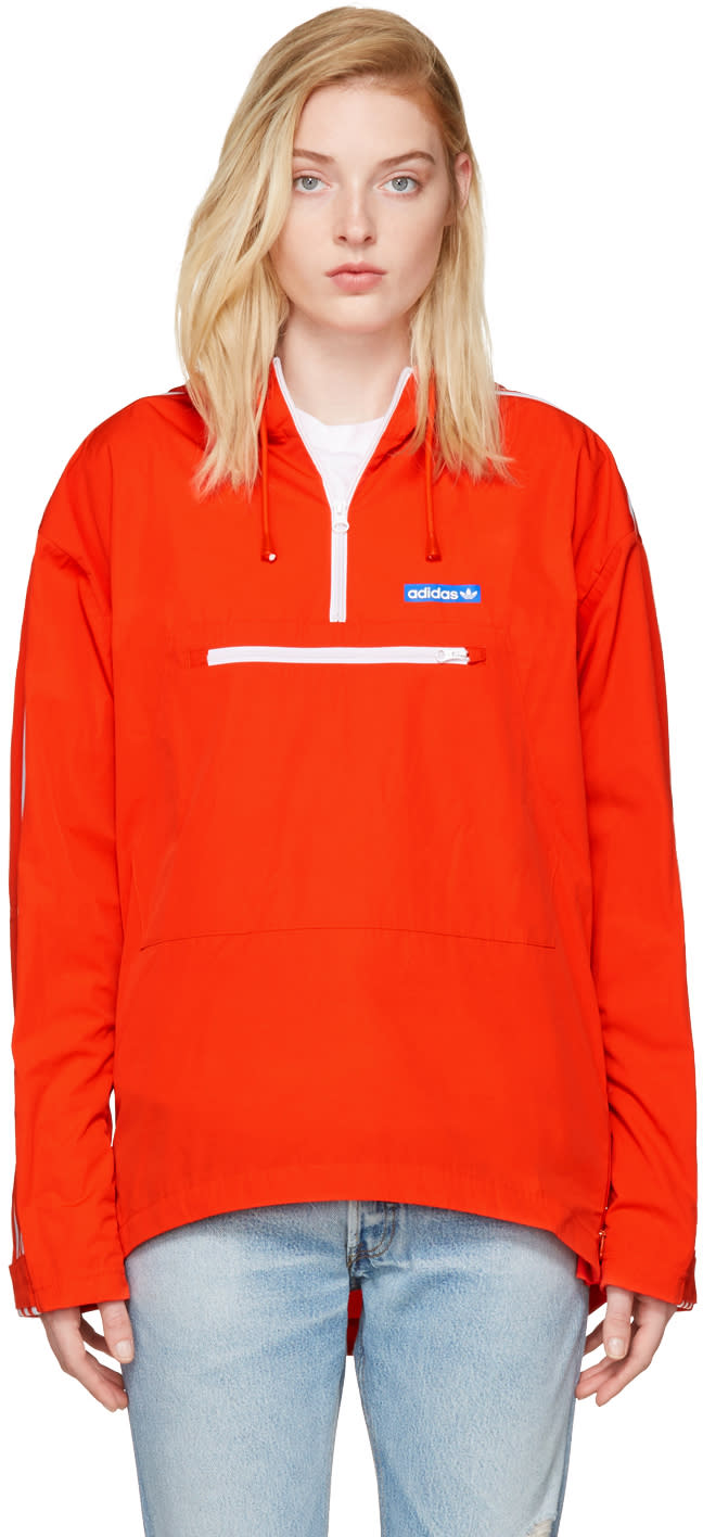 Adidas Originals Orange Tennoji Windbreaker Jacket