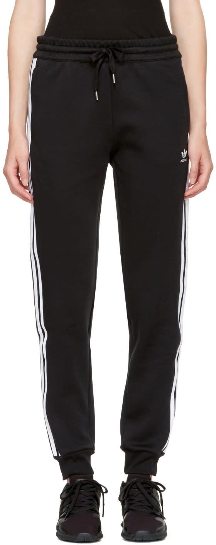 Image of Adidas Originals Black 3-stripes Track Pants