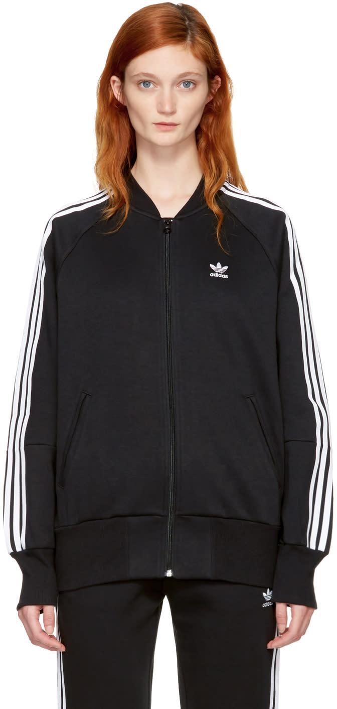 Image of Adidas Originals Black 3-stripes Track Jacket