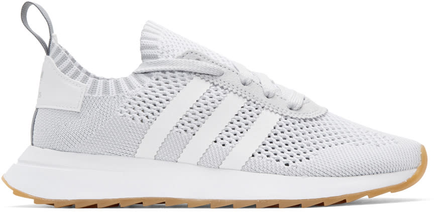 Adidas Originals White and Grey Flashback Sneakers