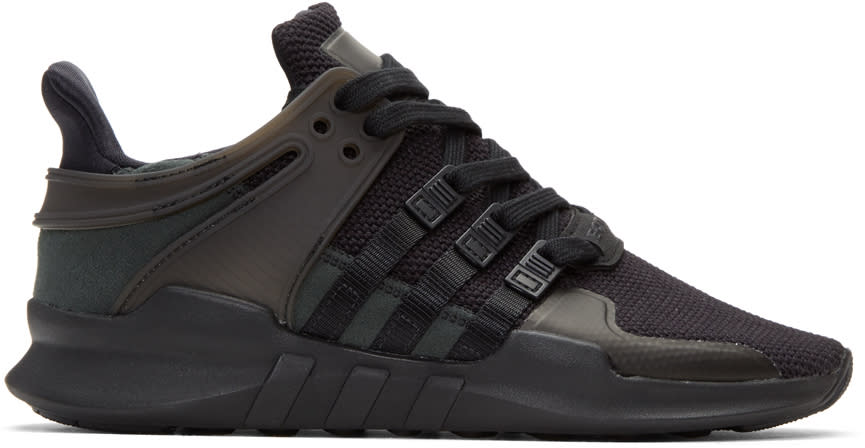 Adidas Originals Black Eqt Support Adv Sneakers