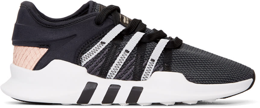 Image of Adidas Originals Black and Pink Eqt Racing Adv Sneakers