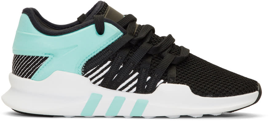 new product b1770 be346 Adidas Originals Black and Blue Eqt Racing Adv Sneakers