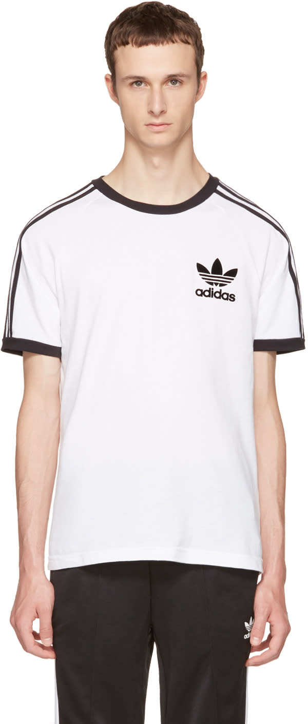 Adidas Originals White and Black California T-shirt