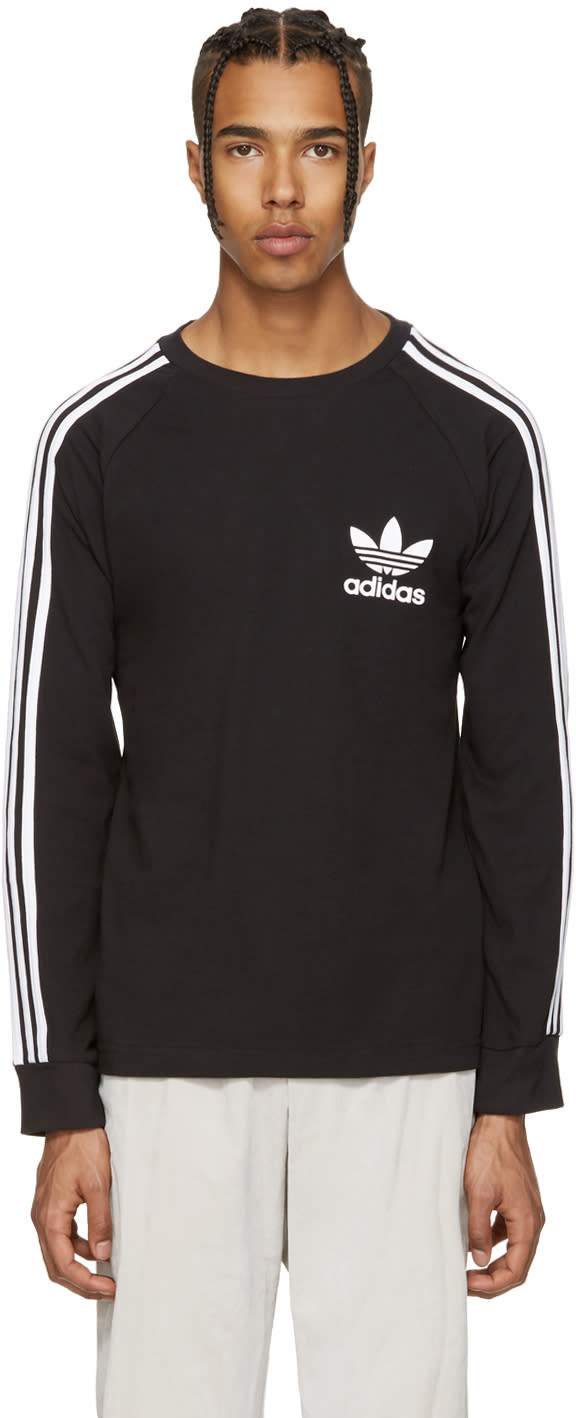 Image of Adidas Originals Black Piqué T-shirt
