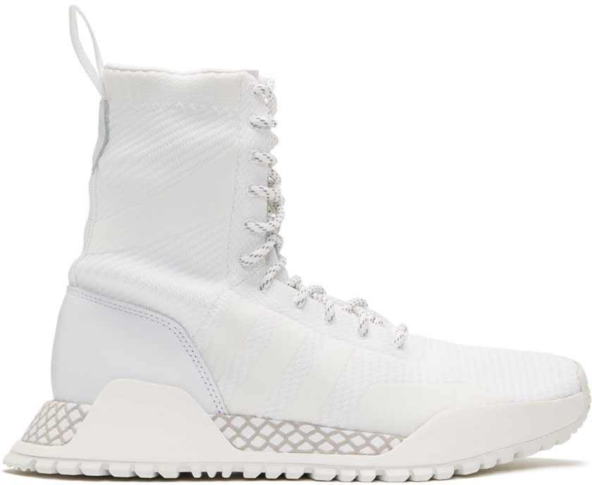 Adidas Originals White F-1.3 Pk High-top Sneakers