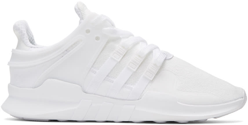 Adidas Originals White Eqt Support Adv Sneakers