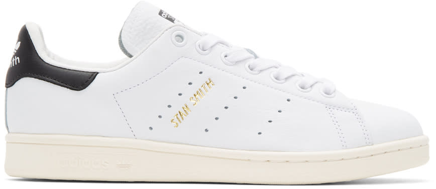 Adidas Originals White and Black Stan Smith Sneakers