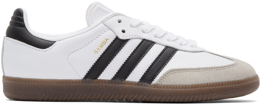 Adidas Originals White Samba Og Sneakers