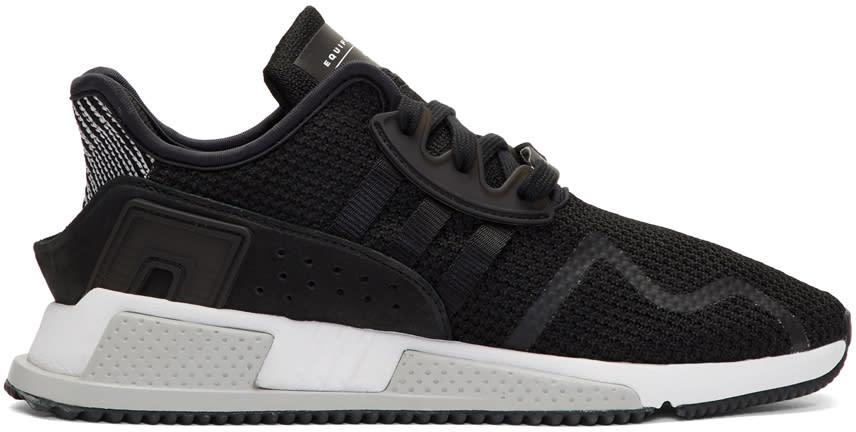 Image of Adidas Originals Black Eqt Cushion Adv Pk Sneakers