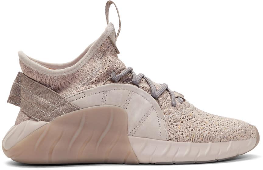 Image of Adidas Originals Beige Tubular Rise Sneakers