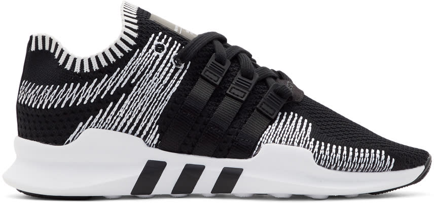 Adidas Originals Black and White Eqt Support Adv Sneakers