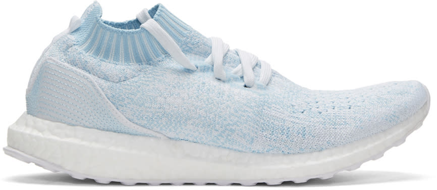 Adidas Originals Blue Ultraboost Uncaged Parley Slip-on Sneakers