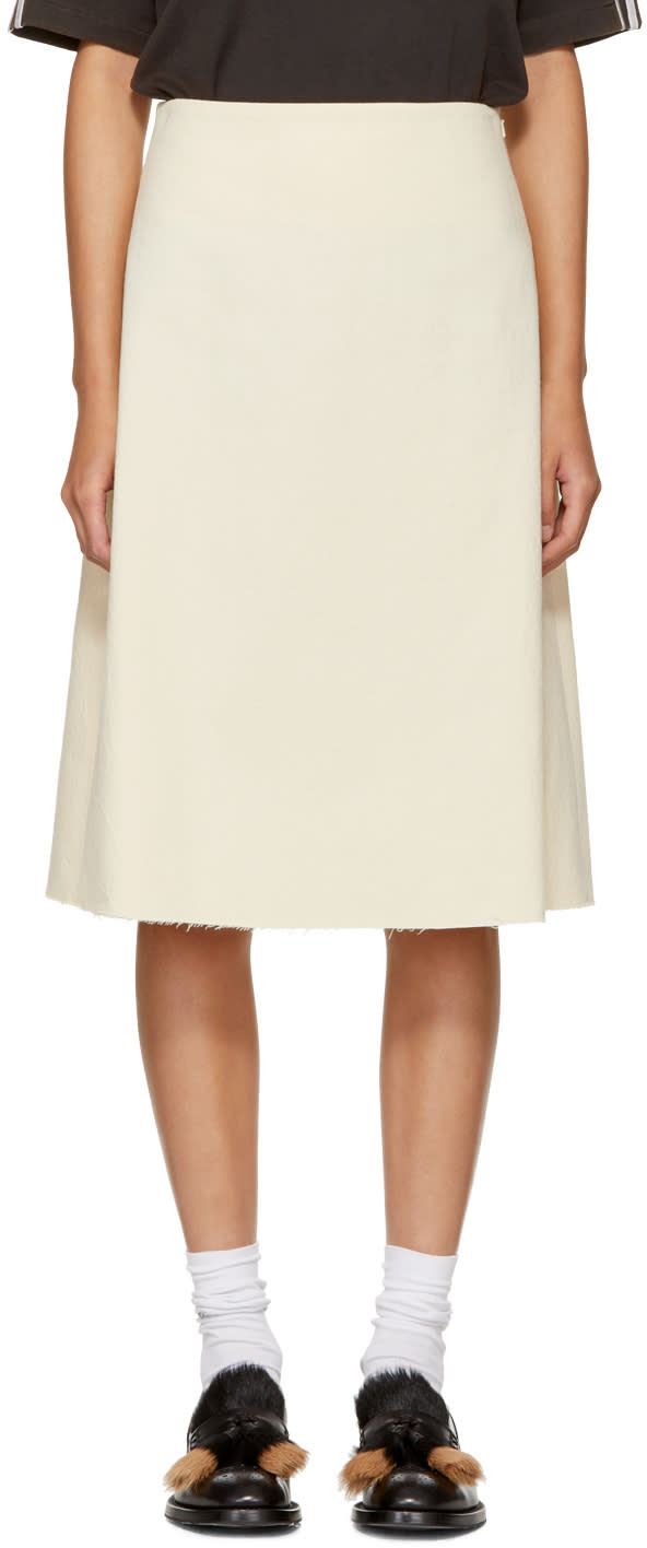 Image of Wales Bonner Ivory Safari Skirt