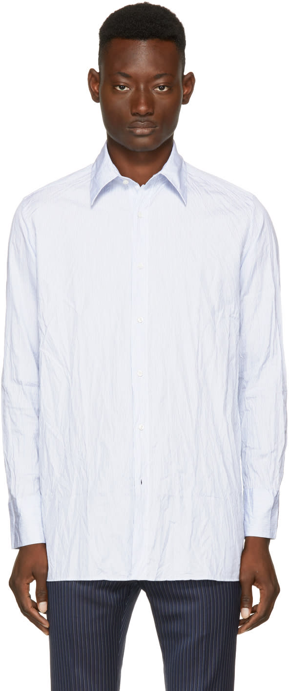 Image of Wales Bonner Blue Thomas Shirt