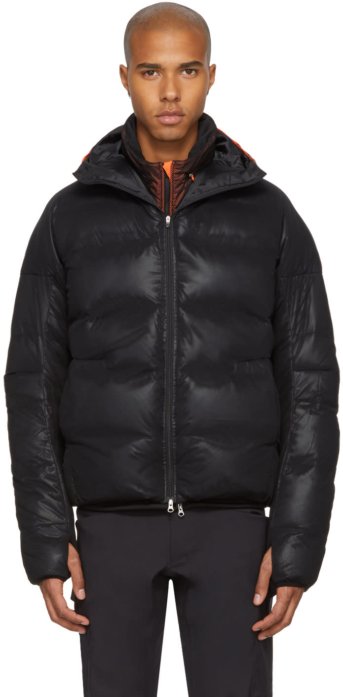 Image of Adidas X Kolor Black Down Jacket