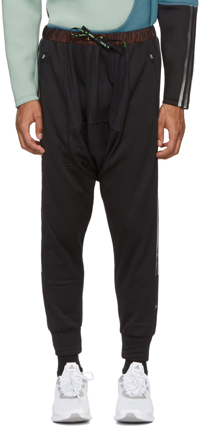 Image of Adidas X Kolor Black Hybrid Lounge Pants