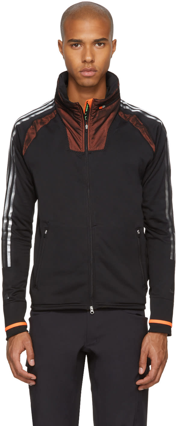 Image of Adidas X Kolor Black Climaheat Zip Hoodie
