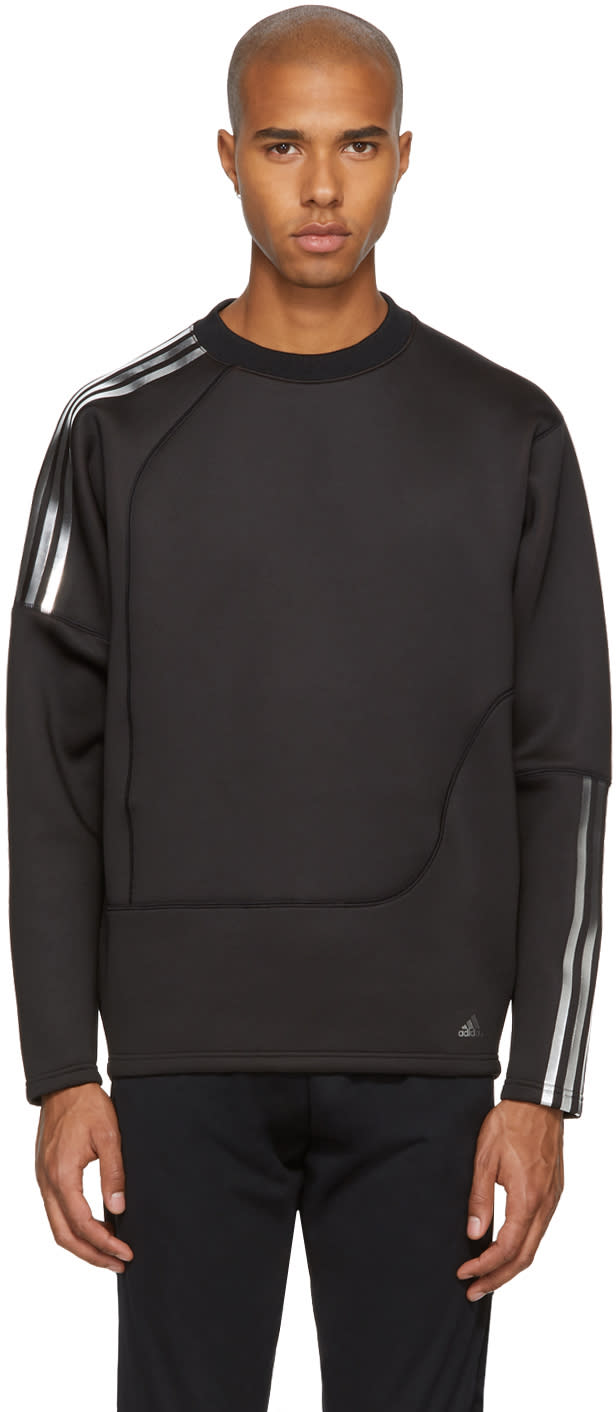 Image of Adidas X Kolor Black Spacer Crew Sweatshirt