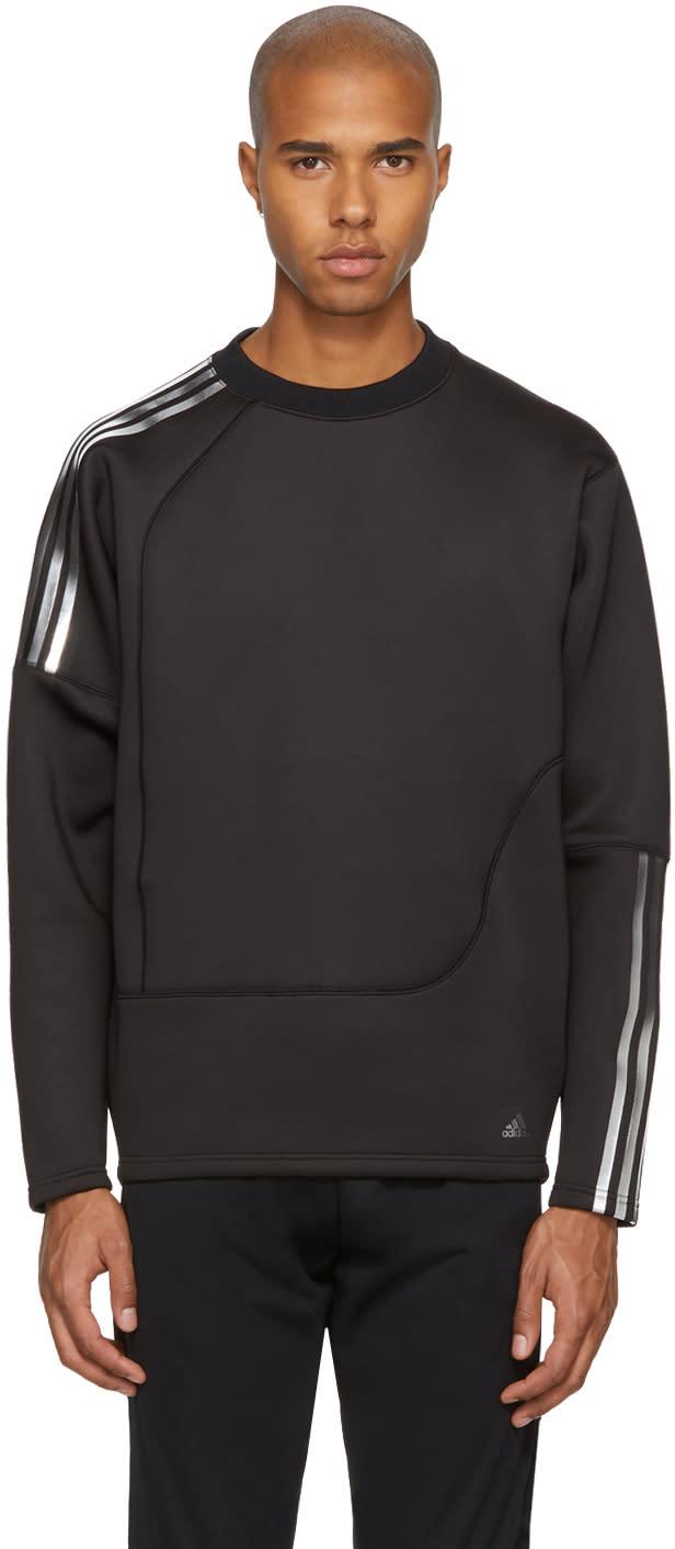 Image of Adidas X Kolor Black Spacer Crew Sweatshirt