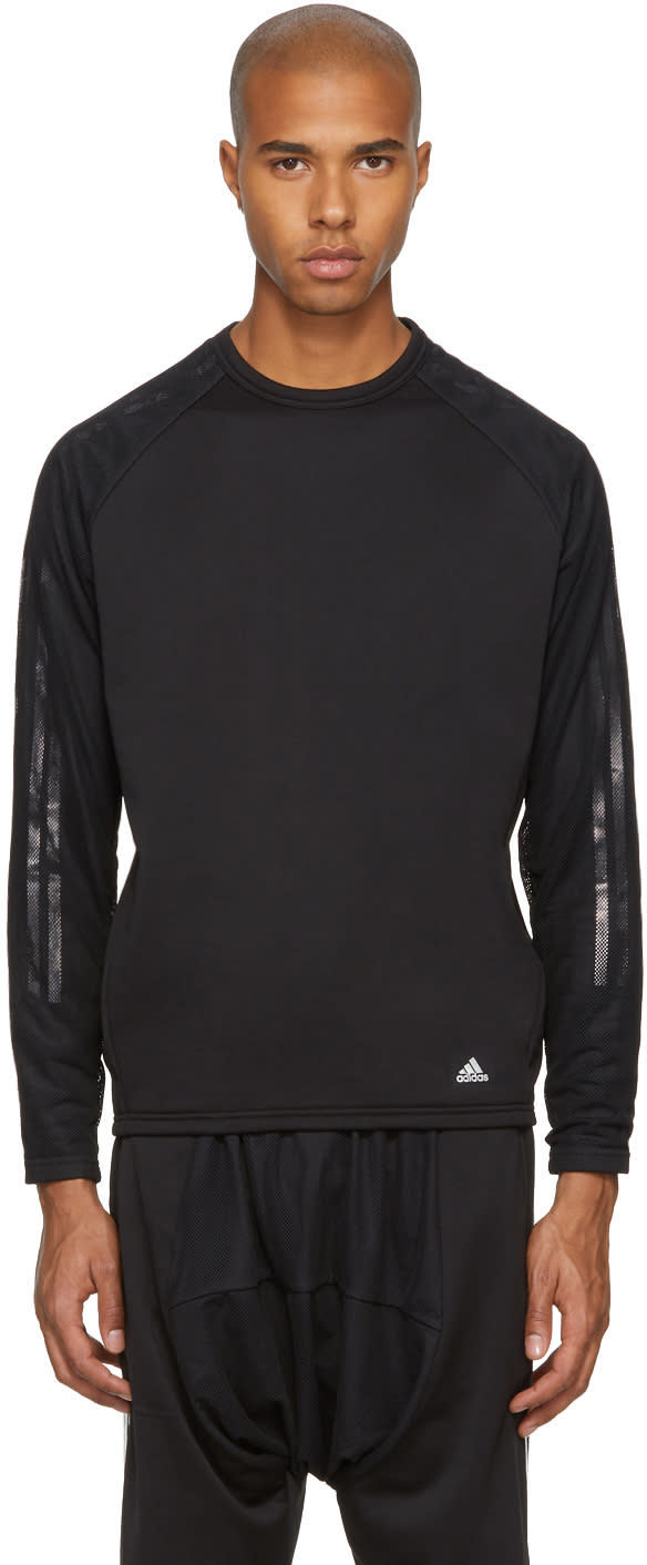 Image of Adidas X Kolor Black Hybrid Crew Sweatshirt