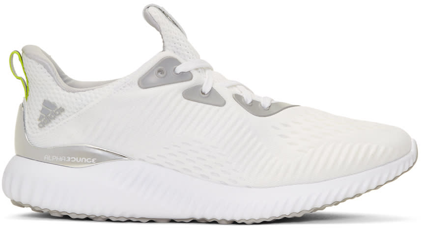 Image of Adidas X Kolor White Alphabounce 1 Sneakers