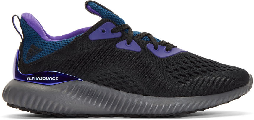 Image of Adidas X Kolor Black Alphabounce 1 Sneakers