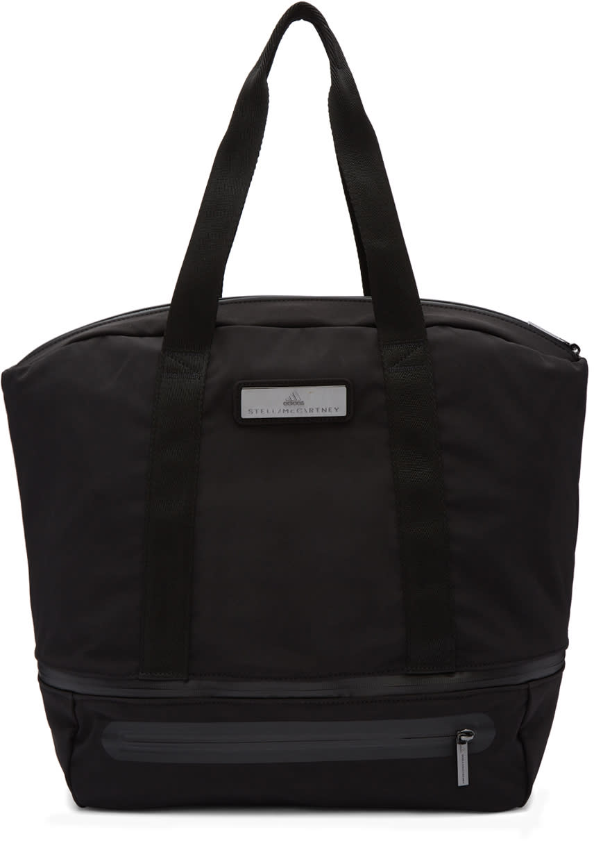 Image of Adidas By Stella Mccartney Black Iconic Expandable Tote