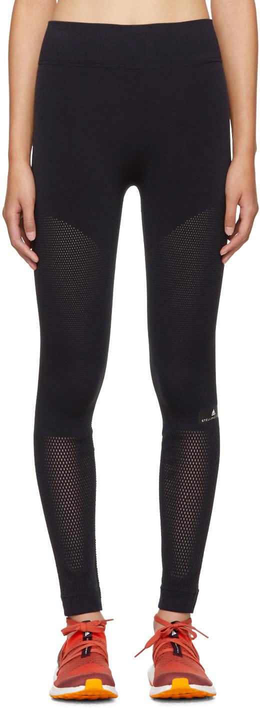 adidas by stella mccartney female adidas by stella mccartney black warpknit climacool leggings