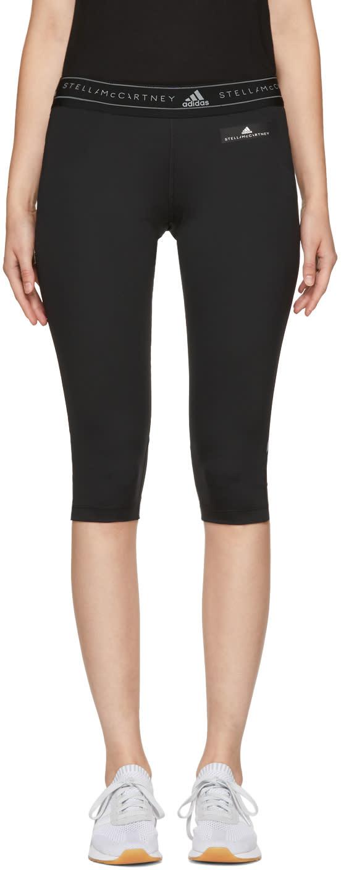 Image of Adidas By Stella Mccartney Black Run Climacool Three-quarter Leggings