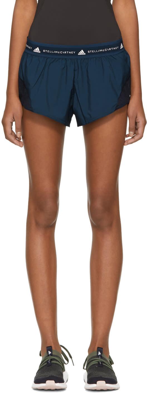 adidas by stella mccartney female adidas by stella mccartney navy run adizero shorts