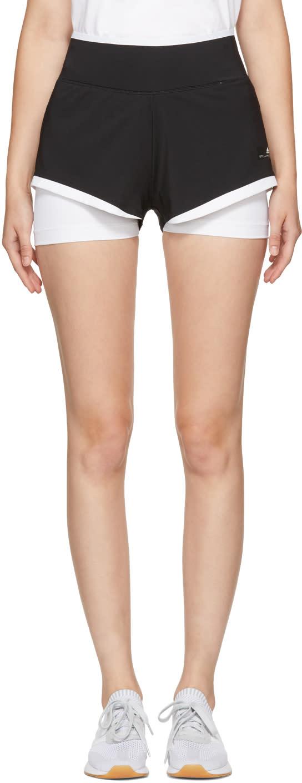Image of Adidas By Stella Mccartney Black and White Climachill Utlimate Training Shorts