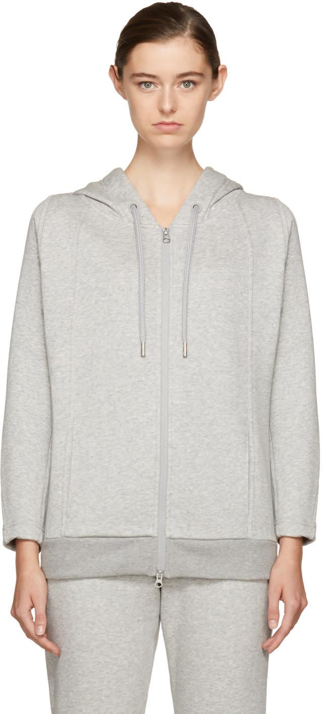 adidas by stella mccartney female adidas by stella mccartney grey essentials hoodie