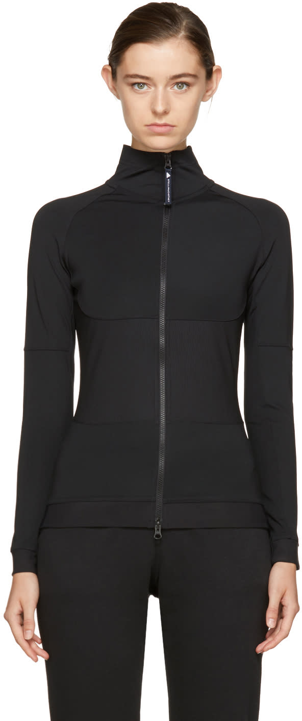 Image of Adidas By Stella Mccartney Black the Midlayer Track Top