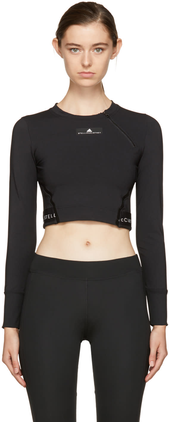 Image of Adidas By Stella Mccartney Black Climachill Training T-shirt