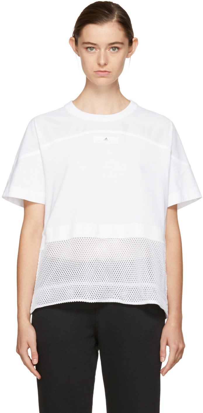 adidas by stella mccartney female adidas by stella mccartney white essentials mesh tshirt
