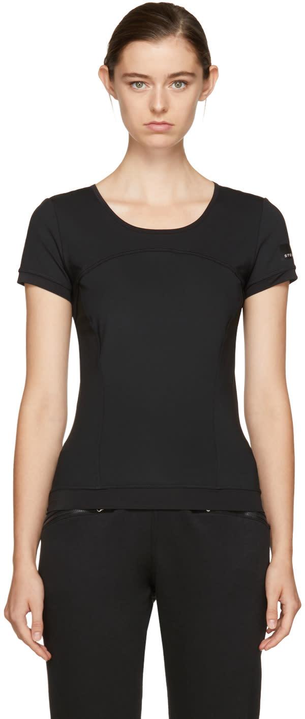 adidas by stella mccartney female adidas by stella mccartney black the perfect tshirt