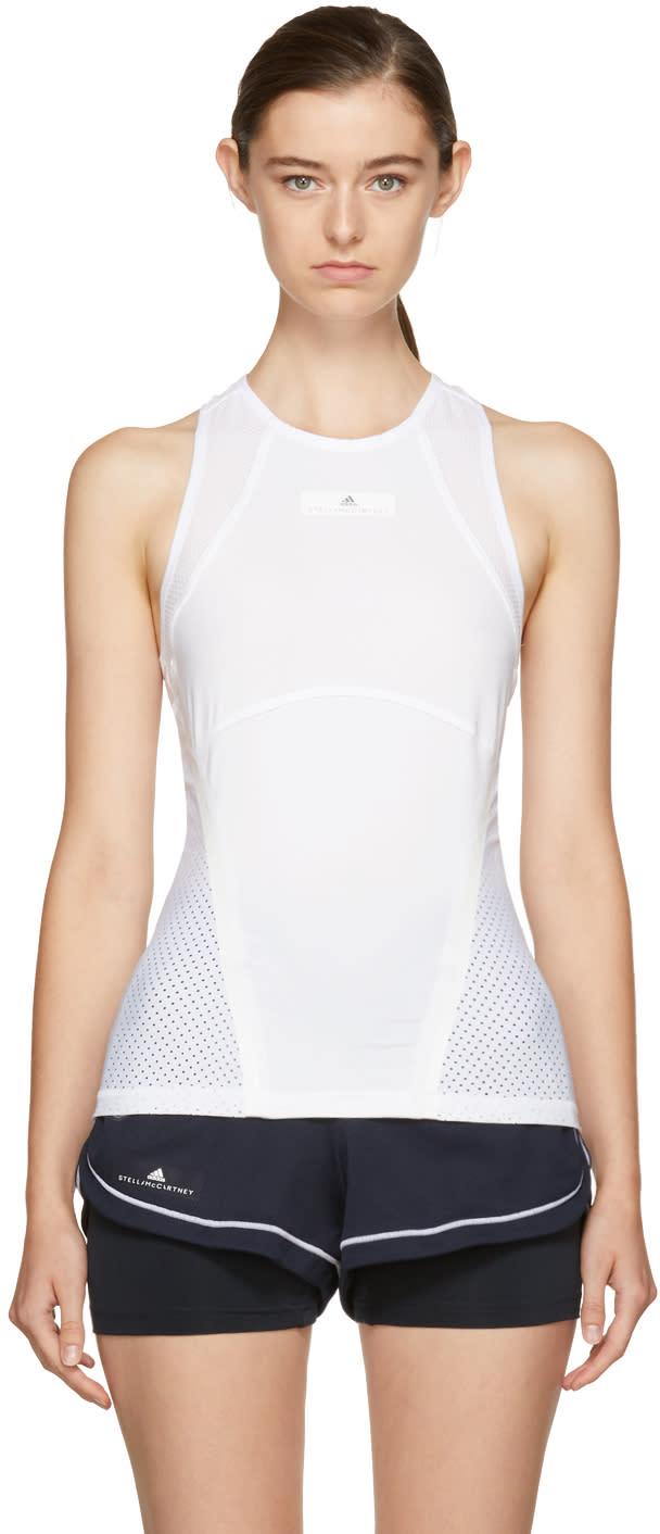 adidas by stella mccartney female adidas by stella mccartney white barricade climacool tennis tank top