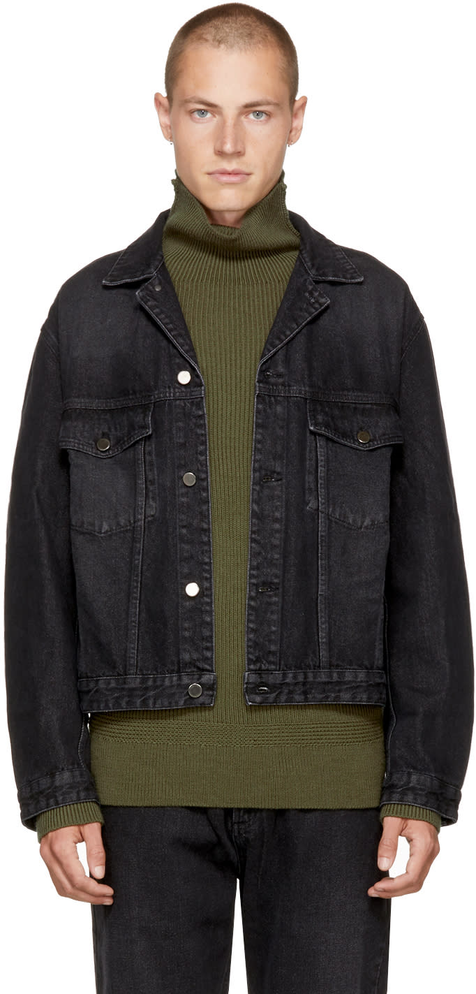 Image of Cmmn Swdn Black Denim Boris Jacket