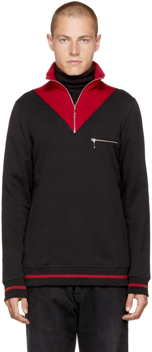 Image of Cmmn Swdn Black and Red Victor Turtleneck