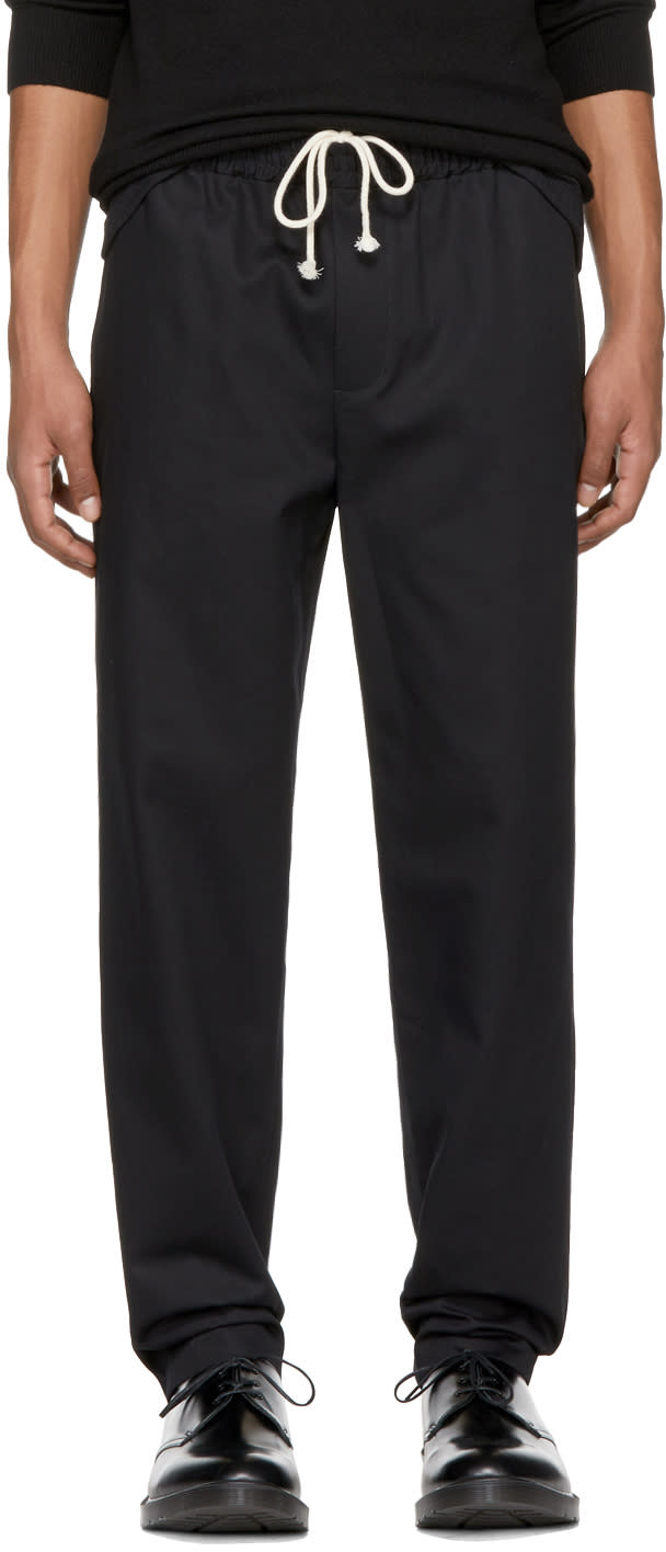 Image of Fanmail Black Cotton Trousers