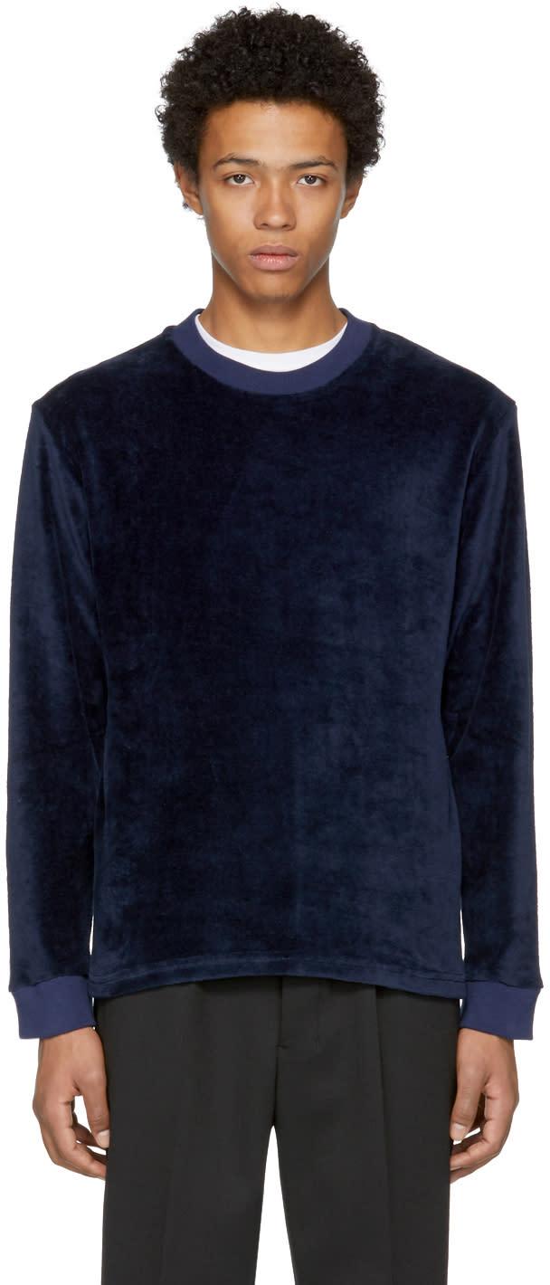 Image of Fanmail Navy Velour Sweatshirt