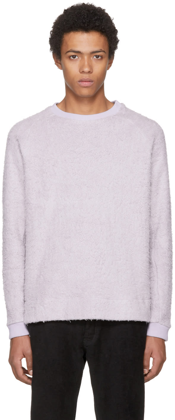 Image of Fanmail Purple Sherpa Sweatshirt