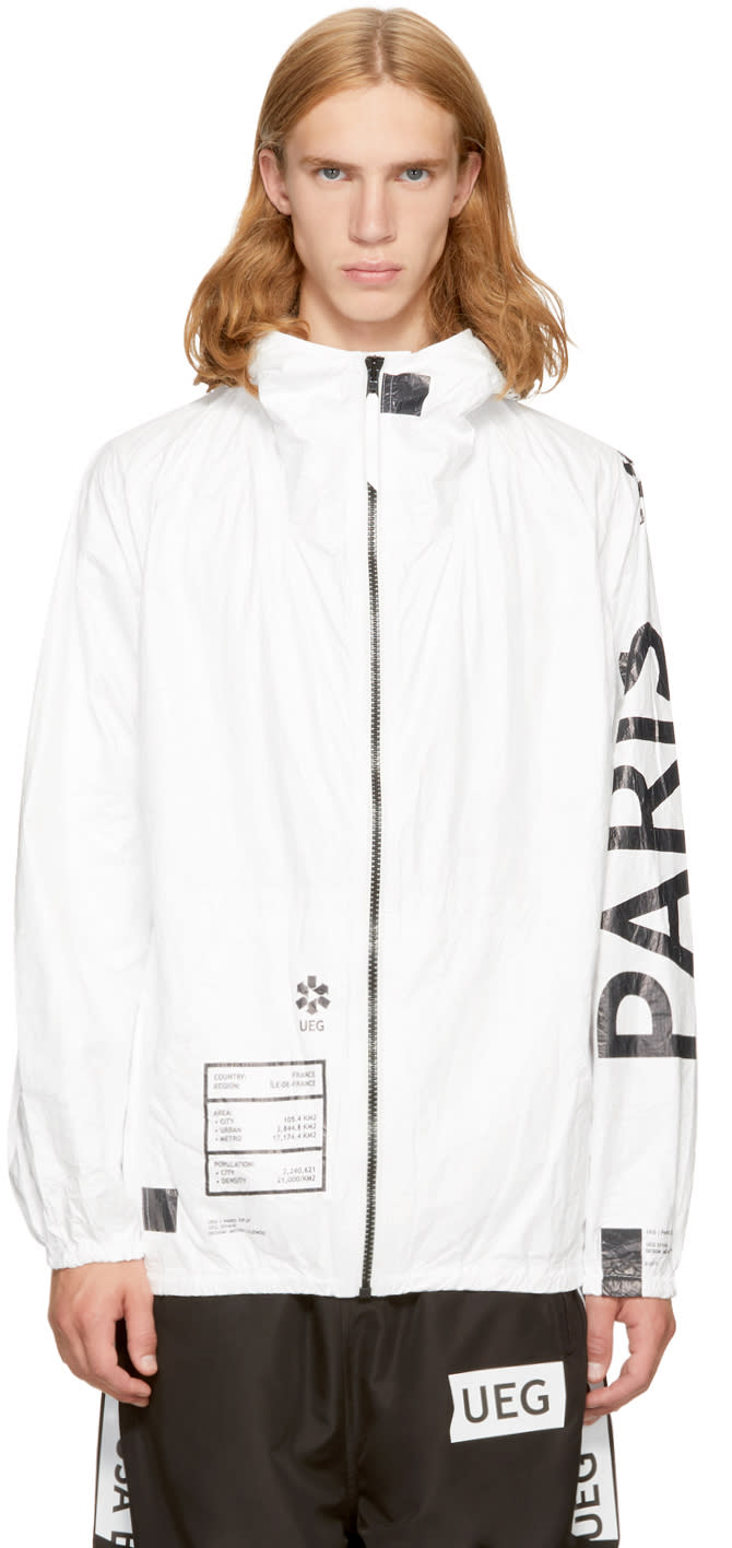 Image of Ueg White paris Jacket