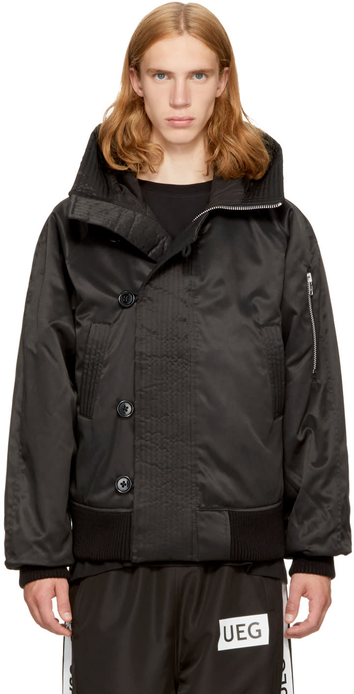 Image of Ueg Black Hooded Flyers Jacket