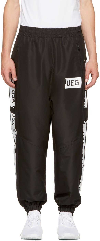 Image of Ueg Black Logo Tape Track Pants