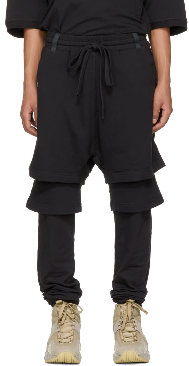 Image of Ueg Black Layered Drop Lounge Pants